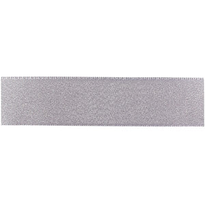 Double Faced Satin Ribbon - Silver Glitter 25mm x 1m
