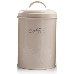 Enamel Coffee Canister