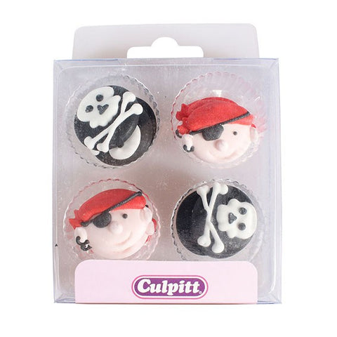 Pirate Cake Decorations - 12 Pack