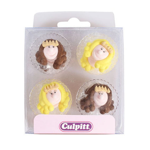 Little Princess Cake Decorations - 12 Pack