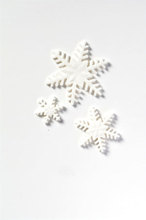 Mixed Snowflakes Sugar Toppers - 20 Pack