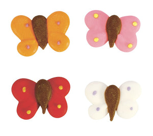Mixed Butterflies Sugar Toppers - 20 Pack