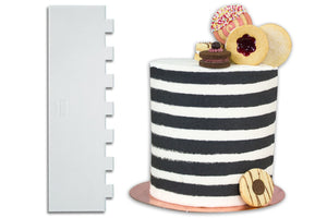 PME Stripe Patterned Tall Cake Scraper