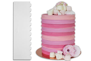 PME Ribbed Patterned Tall Cake Scraper