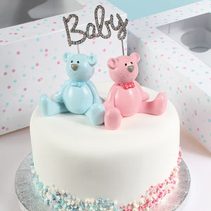 Cake Star Plastic Topper - Pink Teddy
