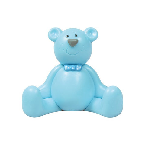 Cake Star Plastic Topper - Blue Teddy
