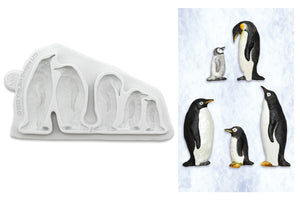 Penguin Family Silicone Mould - Katy Sue