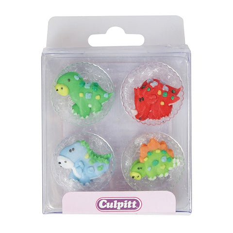 Dinky Dino Sugar Toppers - 12 Pack