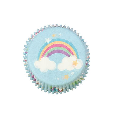 Unicorn & Rainbow FOIL LINED Cake Cases - 24 pack