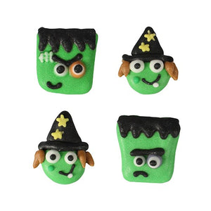 Halloween Monster Friends - Witch and Monsters Edible Cake Toppers - Variety Pack - 20 Toppers