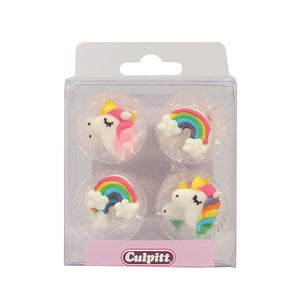 Unicorn & Rainbows Cake Toppers - 12 Pack