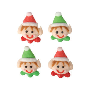Christmas Elves Sugar Toppers - 20 Pack