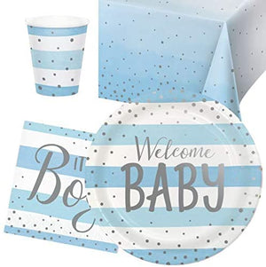 Welcome Baby Boy Baby Shower Party Pack - 8 Guests