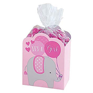 It's a Girl Favour Boxes with Bags and ties - 8 Pack
