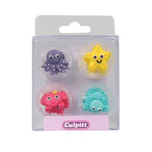 Under the Sea Sugar Toppers - 12 Pack