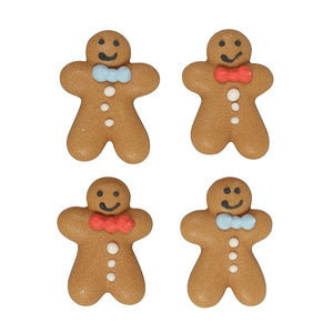 Ginger Bread Men Sugar Toppers - 20 Pack