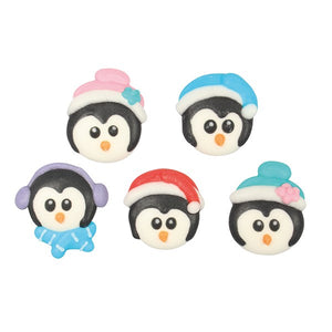Christmas Penguins Sugar Toppers - 20 Pack