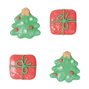 Christmas Tree and Present Sugar Toppers - 20 Pack