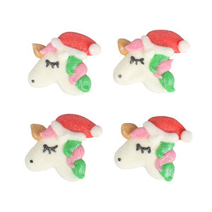 Christmas Unicorn Cake Toppers - 20 Pack