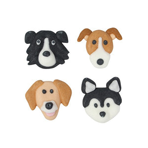 Dog Sugar Cupcake Toppers - 12 Pack