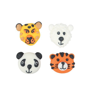 Endangered Animals Sugar Cupcake Toppers - 12 Pack