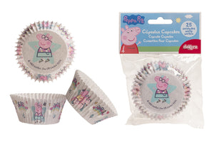 Peppa Pig Cupcake Cases - 25 Cases
