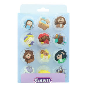 Nativity Cake Decorations - Culpitt - 12 Pack