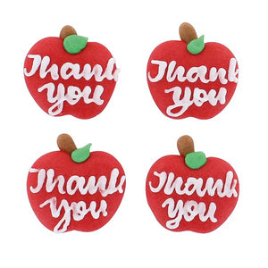Thank You Teacher Apple Sugar Decorations