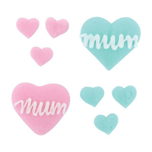 Mother's Day Mum Cake Decorations Sugar Cupcake Toppers - 31 PK