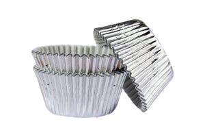 Silver Foil Large Cupcake / Muffin cases- pack of 45