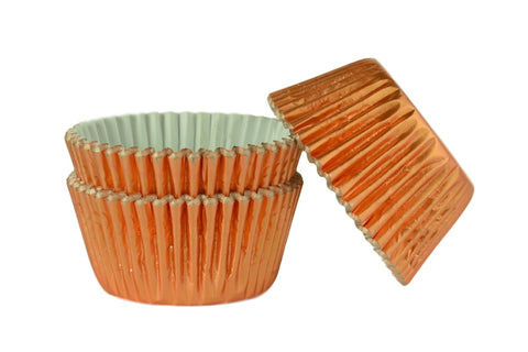 Rose Gold Foil Large Cupcake / Muffin cases- pack of 45