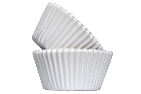 White Baking Cases - Pack of 50