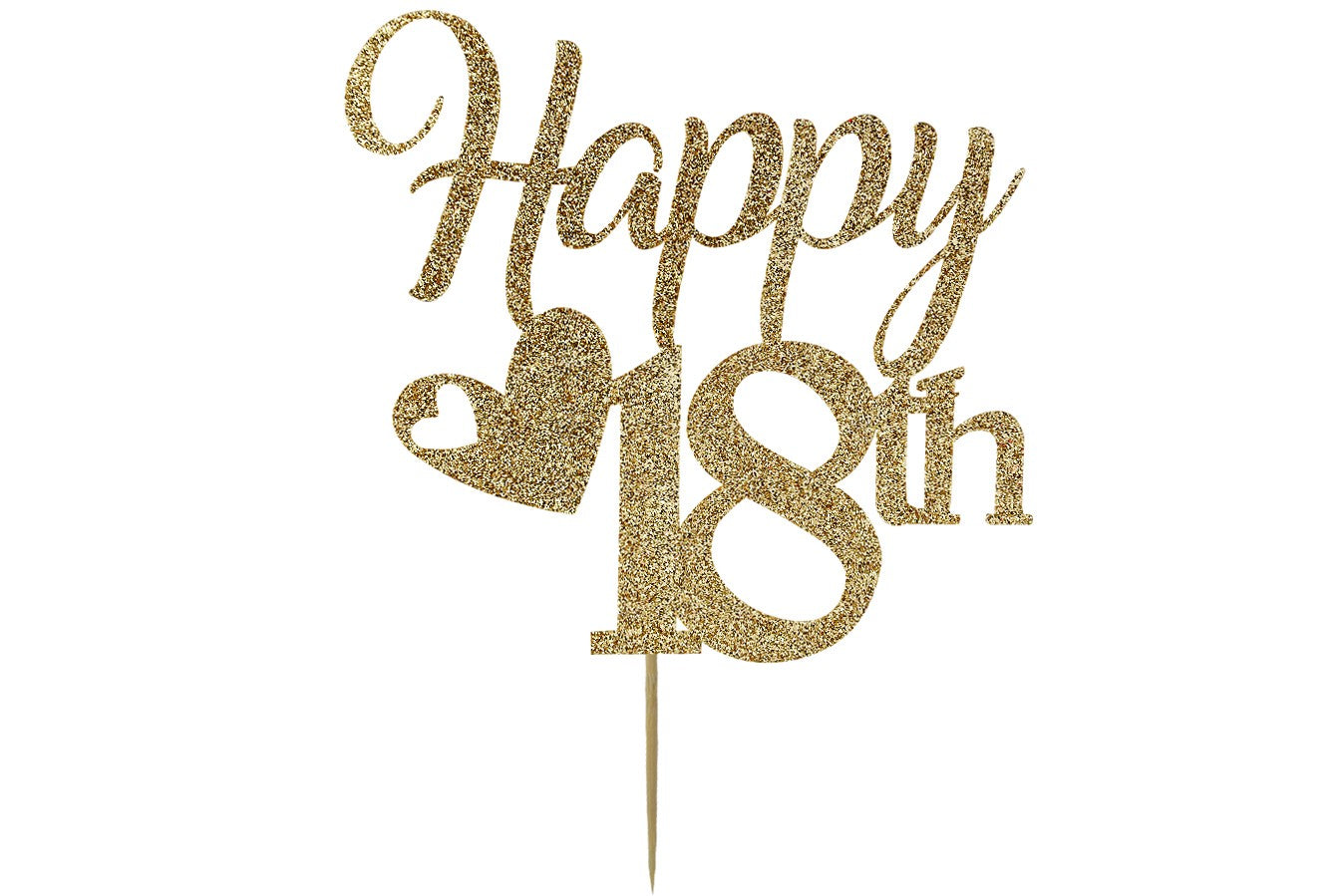 Prime Happy 18Th 18Th Birthday Cake Topper Gold Glitter Cake Personalised Birthday Cards Veneteletsinfo