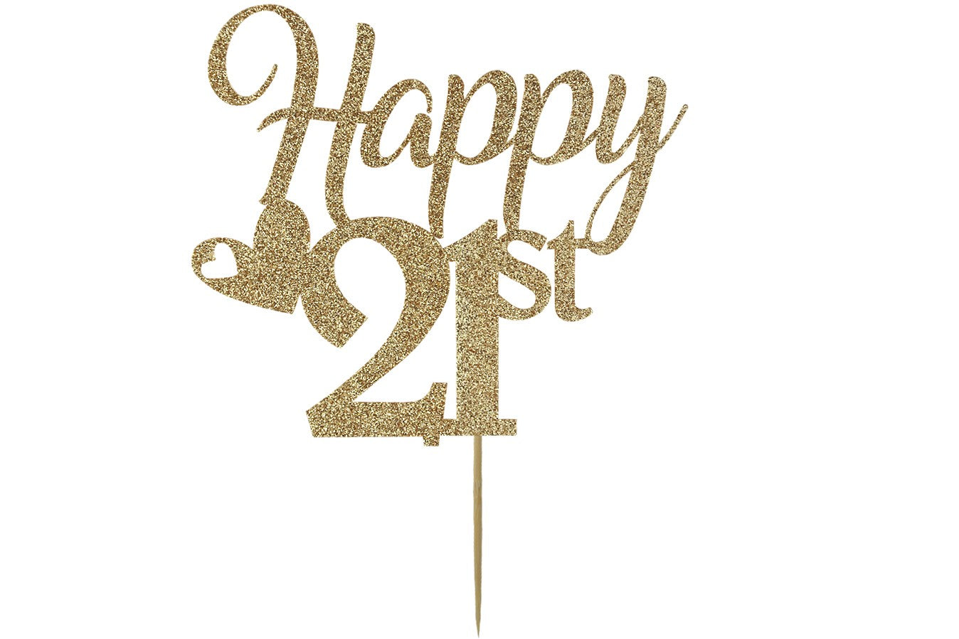 Miraculous Happy 21St 21St Birthday Cake Topper Gold Cake Decoration Stef Funny Birthday Cards Online Alyptdamsfinfo