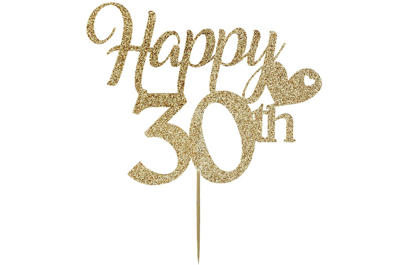 Magnificent Happy 30Th 30Th Birthday Cake Topper Gold Cake Decoration Stef Personalised Birthday Cards Bromeletsinfo