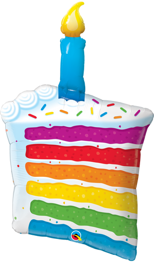 42 INCH RAINBOW CAKE AND CANDLE FOIL BALLOON (1)