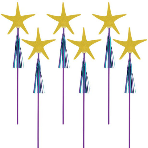 Mermaid Wishes Glitter Starfish Wands