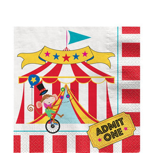 Circus Carnival Party Paper Napkins