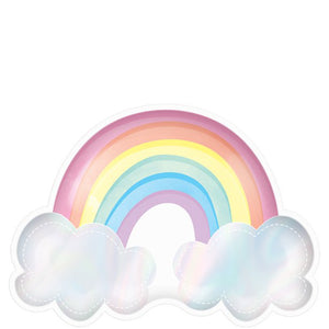 Rainbow Shaped Paper Plates 23cm : Magical Rainbow by Amscan