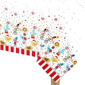 Circus Carnival Party Plastic Tablecover - 1.37m x 2.13m
