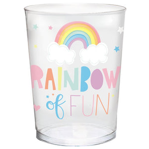 Reuseable Plastic Party Cup 473ml : Magical Rainbow by Amscan
