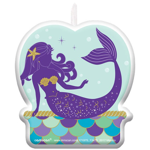 Mermaid Wishes Party - Birthday Candle