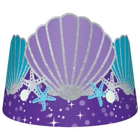 Mermaid Wishes Tiara 8 Pack