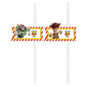 Toy Story 4 Party Straws - 4 Pack