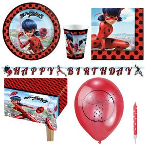 Miraculous Ladybug Party Pack - 8 Guest - Deluxe Pack