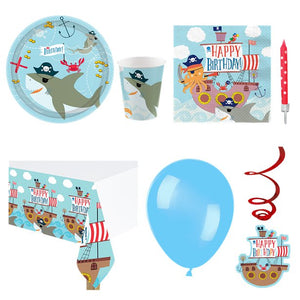 Ahoy Pirate  Birthday Party Pack - 8 Guests - Deluxe