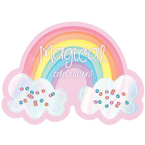 Invitations and Envelopes - 8 pack : Magical Rainbow by Amscan