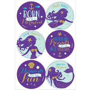 Mermaid Wishes Party - 24 Sticker Pack