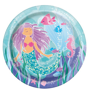 Magical Mermaid Party - Large Paper Plates 22cm