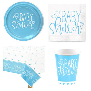 Baby Shower Baby Boy Blue Star Party Pack for 8 Guests